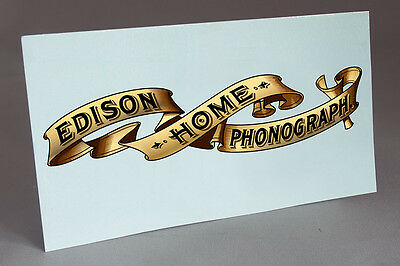 Big Edison Home Banner Water Slide Decal For Phonograph Restoration