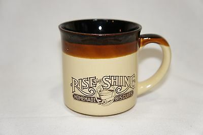VINTAGE HARDEES RISE AND SHINE COFFEE CUP  MUG 1986 Homemade Biscuits
