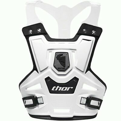 Thor Mx Sentinel Chest Protector Pro White Motocross Body Armor Roost Armour