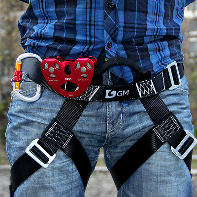 Professional L Size Zipline Harness System With Pulley & Carabiner FREE SHIPPING