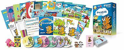 Swahili for Kids Deluxe set, Swahili learning DVDs, Books, Posters, Flashcards