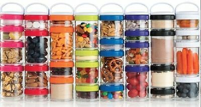 BlenderBottle Stacker Bottle GoStak Portable Stackable Stacking Containers 4 Pak