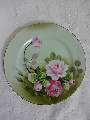 "20% OFF! Vintage Lefton Heritage Rose Dinner Plates #3069  9"" diameter"
