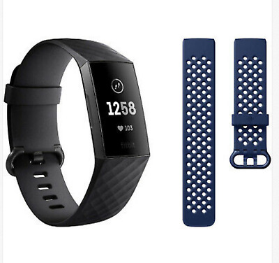Fitbit Charge 3 Advanced Fitness Activity Tracker Touchscreen bundle,Swim Proof