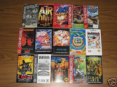 58 Sega Genesis Manuals No Duplicates