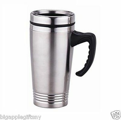 Stainless Steel Insulated Double Wall Travel Coffee Mug Cup  16OZ NEW!!