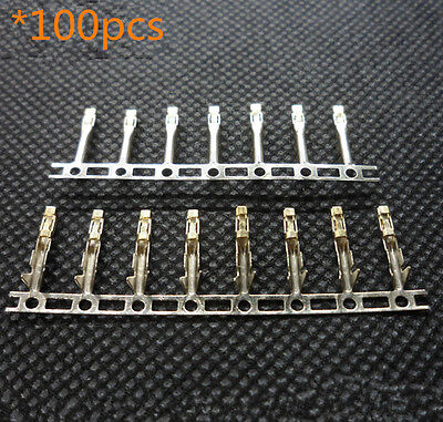 100pcs 2.54mm Dupont Jumper Wire Cable Housing Female Pin Connector Terminal