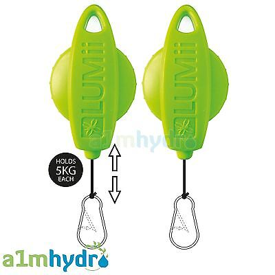 Lumii Lift Rope Ratchets Hangers For Grow Light Reflectors Twin Pack Hydroponics
