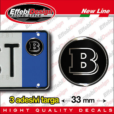 ADESIVI stickers bollini targa/plate MERCEDES SMART BRABUS, New !!