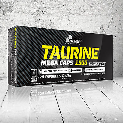 OLIMP Taurine 1500 Mega Caps Amino Acids Energy Booster