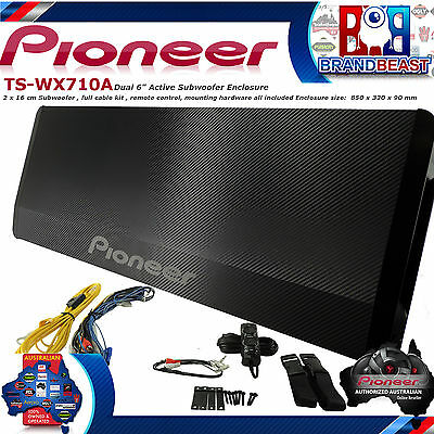 Pioneer Ts-Wx710A Dual Active Slim Line Sub Intergrated Amp Install Kit Tswx710A