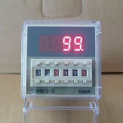 12V Multifunction Digital Timer Relay On Delay 8 Pins SPDT DH48S-S Repeat Cycle