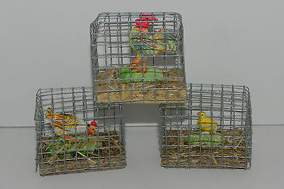 Animal Figurines Farm Barn Rooster Hen Chick Countryside Cage Decoration Western