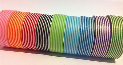 Washi Tape Pinstripes Choose Your Colour 15Mm X 10Mtr Planner Craft Wrap Scrap