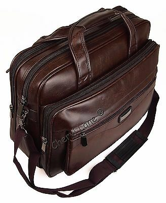 High Quality New Faux Leather Pilot Business Executive Briefcase Laptop Work Bag