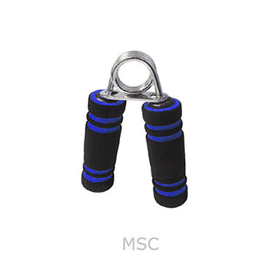 1x Heavy Steel Exercise Fitness Body Building Hand Fore-Arm Wrist Grip Pair Blue