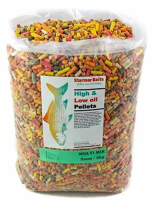 5kg Mixed high and low oil sinking pellets for carp and coarse fishing