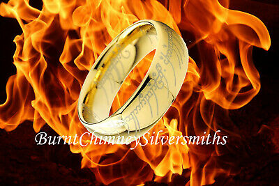 "Lord ""The Ring"" inspired by LOTR Ion gold plated"