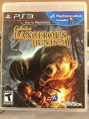 Cabela's Dangerous Hunts 2011 (Sony Playstation 3, 2010) Complete
