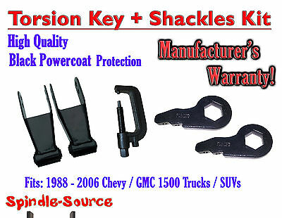 "FORGED Lowering Torsion Keys 2"" - 3"" 88 - 06 Chevy GMC 1500 + 2"" Shackles + TOOL"