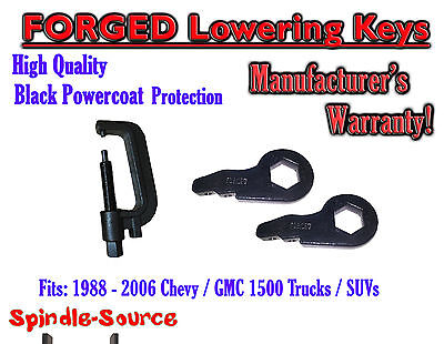 "FORGED Lowering Torsion Keys 2"" - 3"" 88 - 06 Chevy GMC 1500 AND INSTALL TOOL"