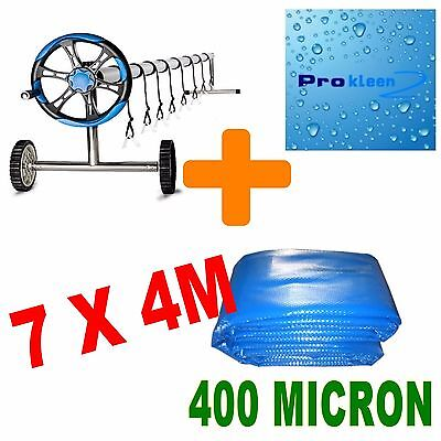2017 NEW 7 x 4m Package 400 Micron Solar Swimming Pool & Cover Bubble Blanket