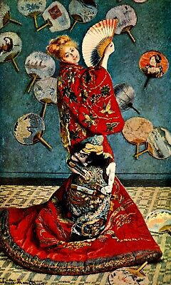 Camille in Japanese dress by Claude Monet Giclee Fine ArtPrint Repro on Canvas