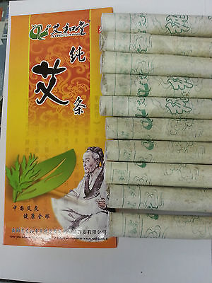 1 box Pure Moxa Roll Sticks for Moxibustion 18x200mm 10/box  @UK SELLER@