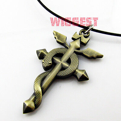 Fullmetal Alchemist Edward Elric Snake Pendant Necklace Cosplay Perfect Gift