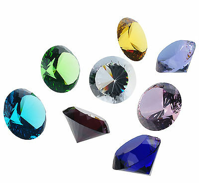 Large 80mm 100mm Crystal Cut Glass Diamond Chirstmas Table Home Deco Paperweight