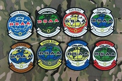 Resident Evil BSAA All continents of the world branch 3D PVC Patch