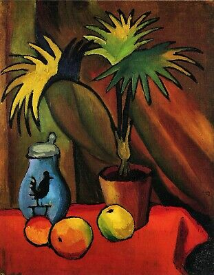 Still Life with Palms by August Macke Giclee Fine ArtPrint Repro on Canvas