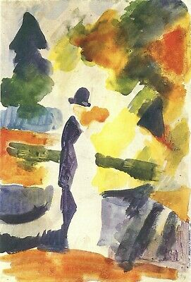 Resignation by August Macke Giclee Fine ArtPrint Reproduction on Canvas