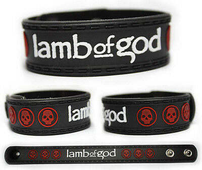 LAMB OF GOD Rubber Bracelet Wristband Wrath Walk with Me in Hell Resolution