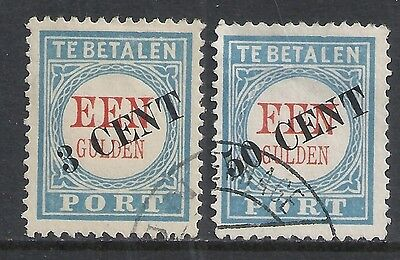 Netherlands 1906 NVPH Due P27-P28  CANC  VF