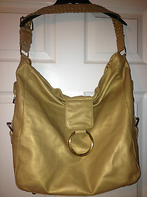 LARGE Shoulder Bag Switch it by Nan Beautiful! Gold HOBO Large EUC Must See