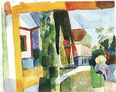 Our garden on the lake IV by August Macke Giclee Fine ArtPrint Repro on Canvas