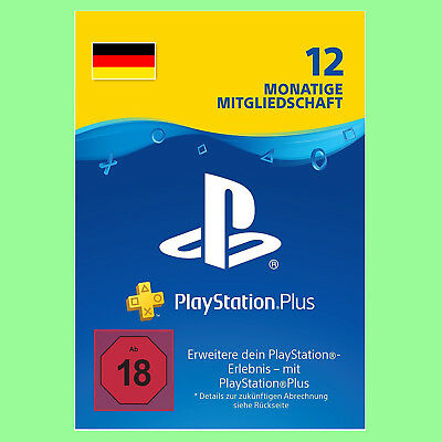 Playstation Plus Live Card PS+ Network 365 Tage 1 Jahr PSN PS4 PS3 Code DE Store