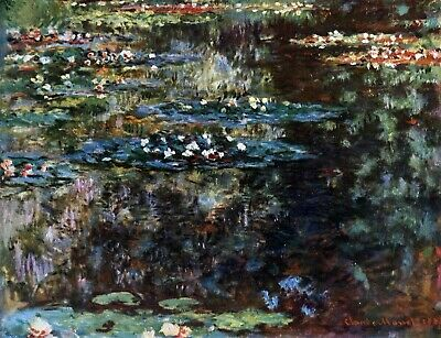 Water garden at Giverny by Claude Monet Giclee Fine Art Print Repro on Canvas