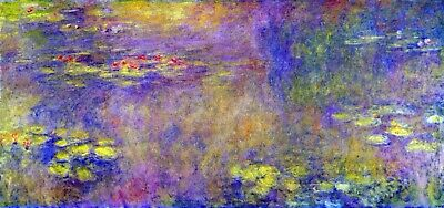 Water Lilies - (Yellow nirvana) by Claude Monet Giclee Fine Art Repro on Canvas