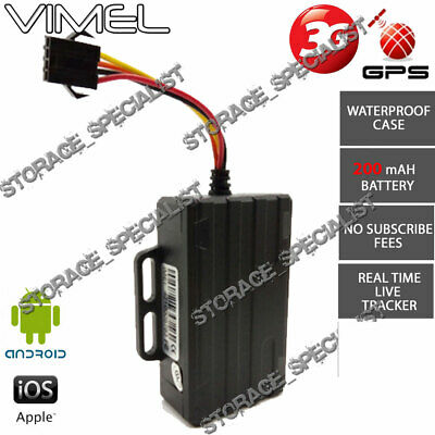 3G GPS Tracker Anti Car Theft Boat Real Live Remote Monitoring Mobile Phone