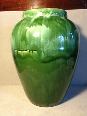"Large 18"" Robert Ransbottom Pottery Green High Drip Glaze Floor Vase"