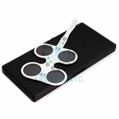Optical Flipper Optometry Plastic Flip for Lens Confirmation Test With Case New