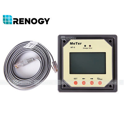 RENOGY MT-5 Remote Meter for Tracer MPPT Charge Controller
