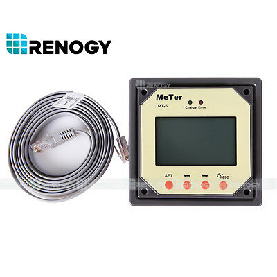 Renogy MT-5 Tracer Meter for MPPT Solar Panel Charge Controller Display status