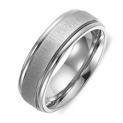 NEW 2014 Free Engrave Men Women Titanium Anniversary Wedding Ring CA050