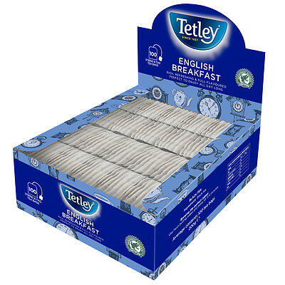 Tetley English Breakfast String & Tag Teabags 100s (12 pack, 1200 Teabags)