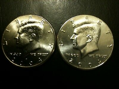 2004 P&D Kennedy Half Dollar Set GEM BU From MINT ROLL Clad No Silver 50 Cent PD