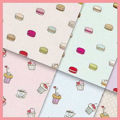 exclusive 48/ 24pc dessert macaroon cupcake drinks scrapbook paper 6 design