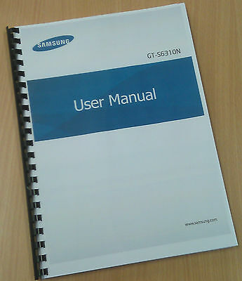 Printed Samsung Galaxy Young Instruction Manual / User Guide GT-S6310N